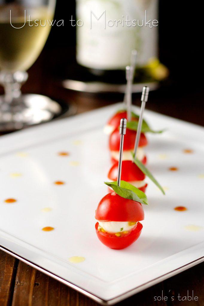 ミニトマトで簡単ピンチョスカプレーゼ