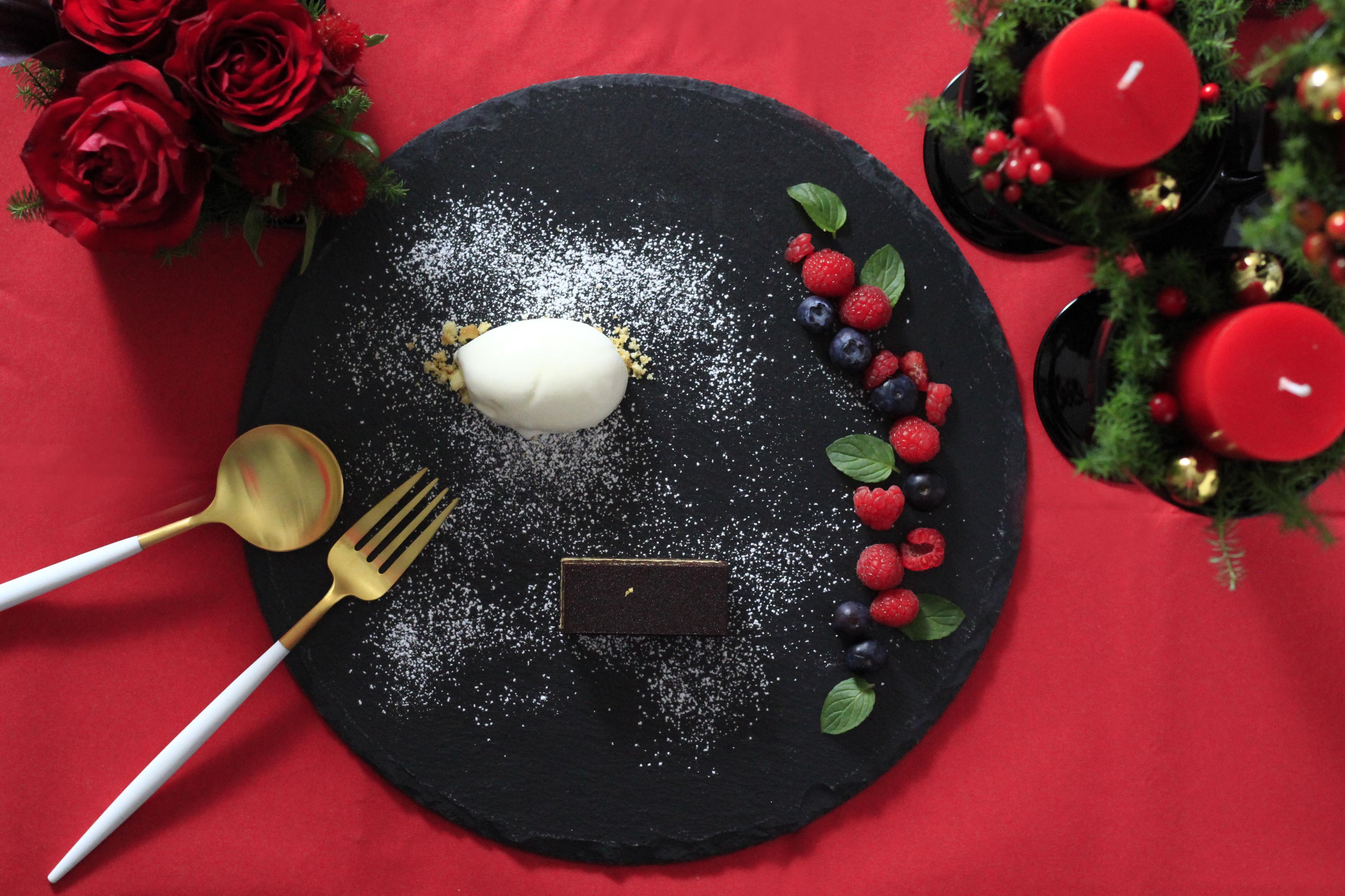 クリスマスデザートプレート