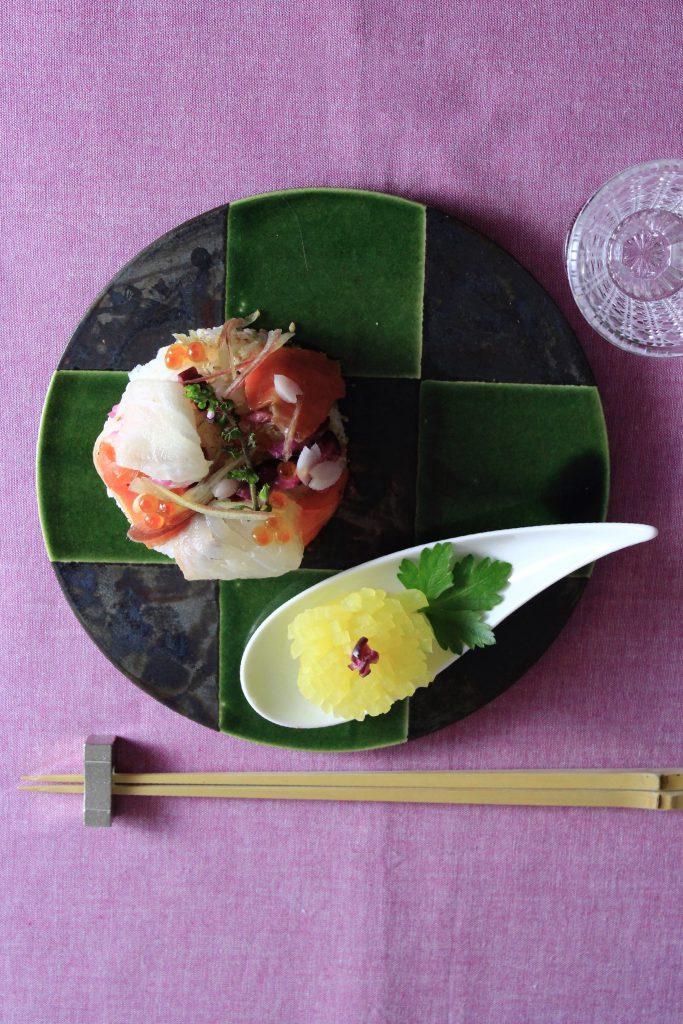 セルクルでちらし寿司3うつわともりつけ