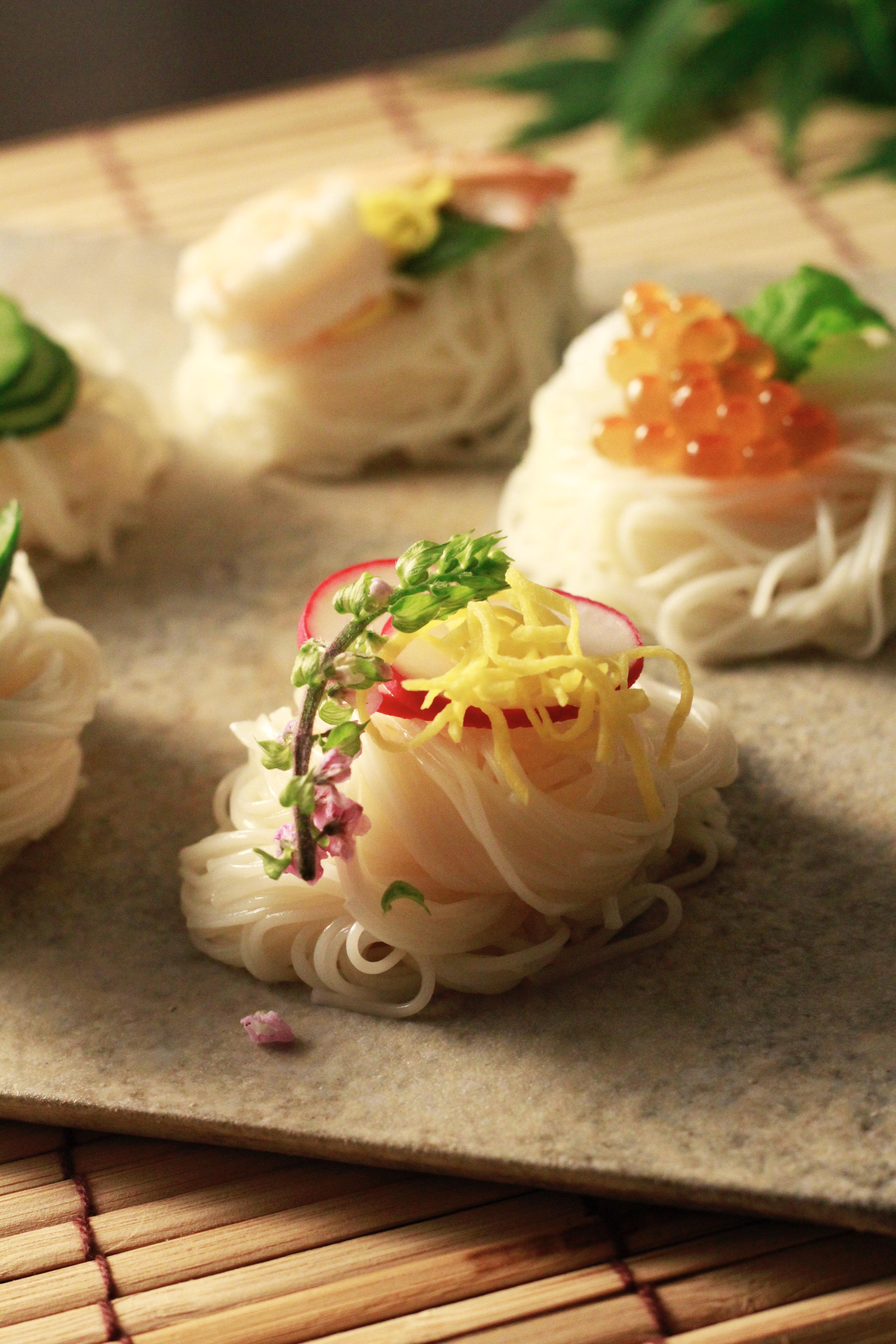 彩り素麺錦糸卵とラディッシュ写真③