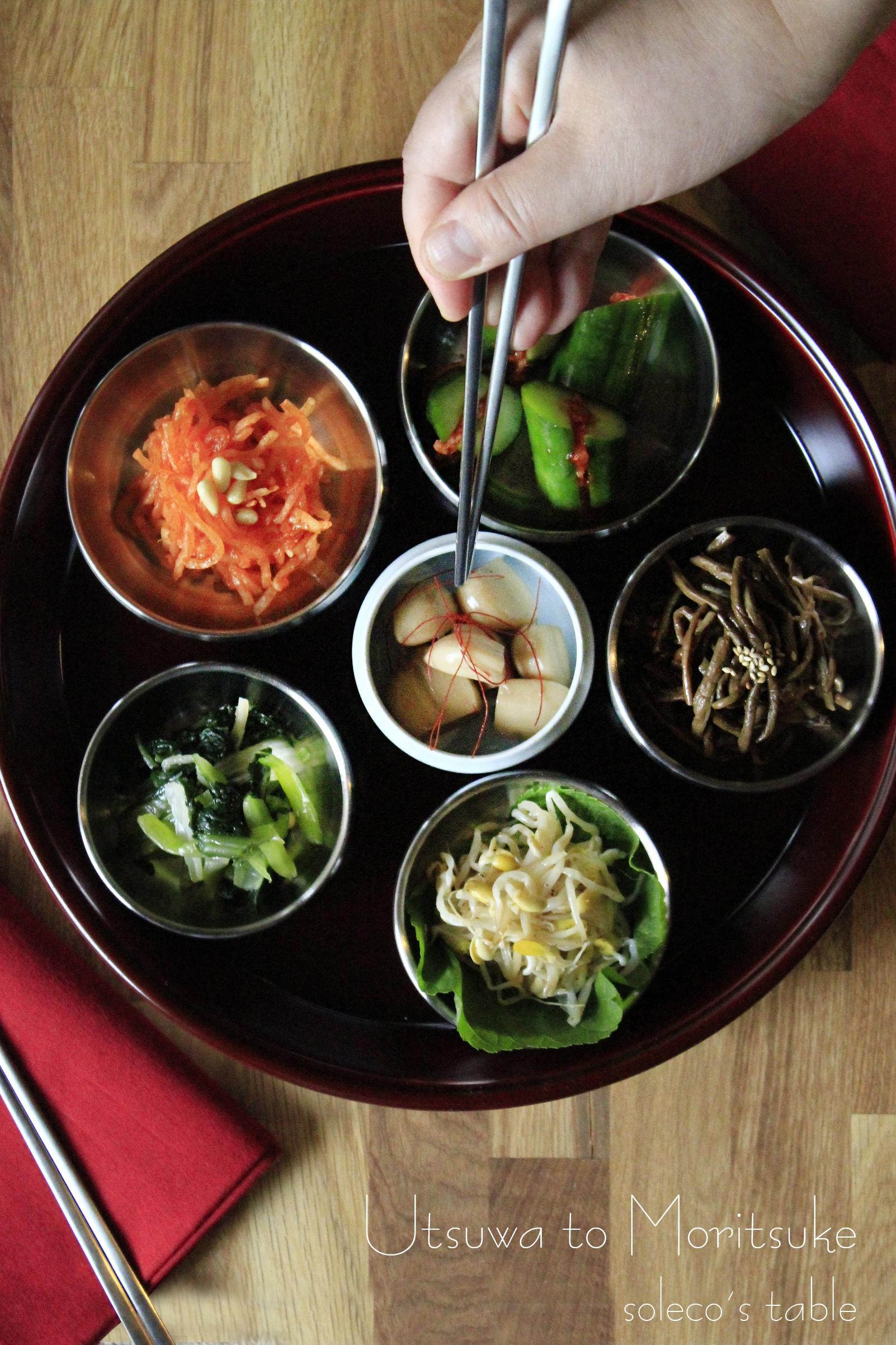 韓定食のおかずを豆皿に韓国小皿写真①