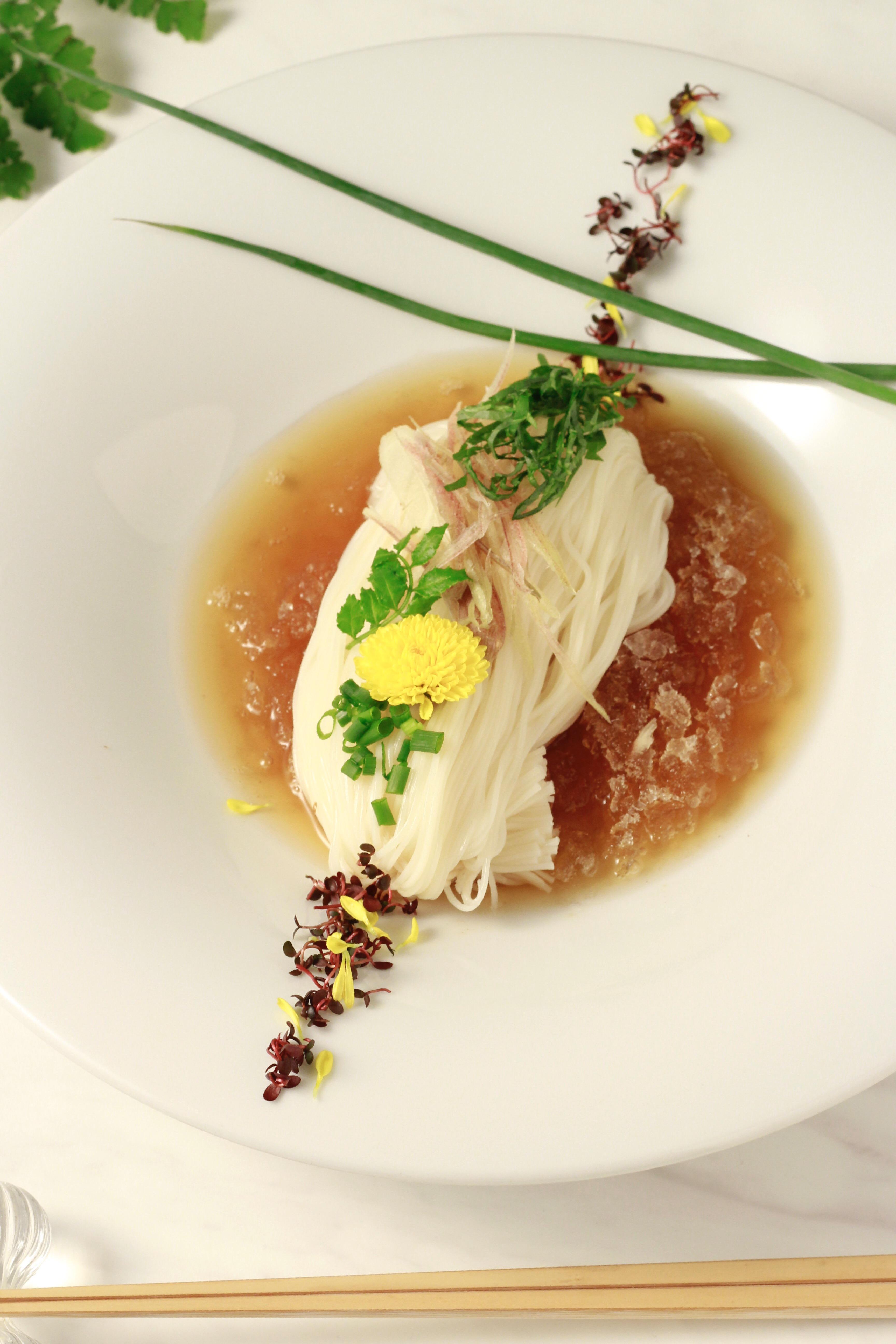 素麺の盛り付けアレンジ写真②