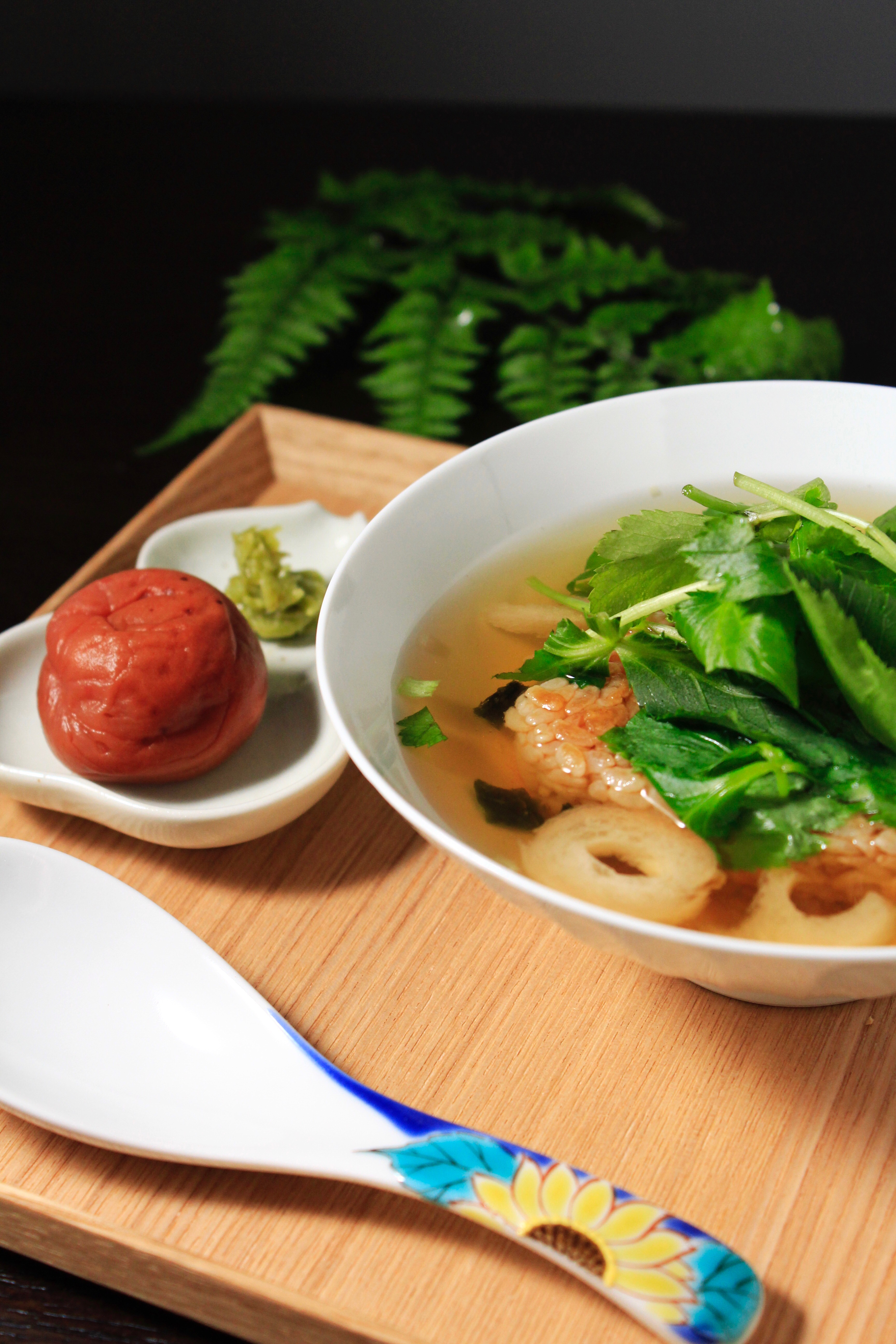 冷凍焼きおにぎりと永谷園のお吸い物でお雑炊③