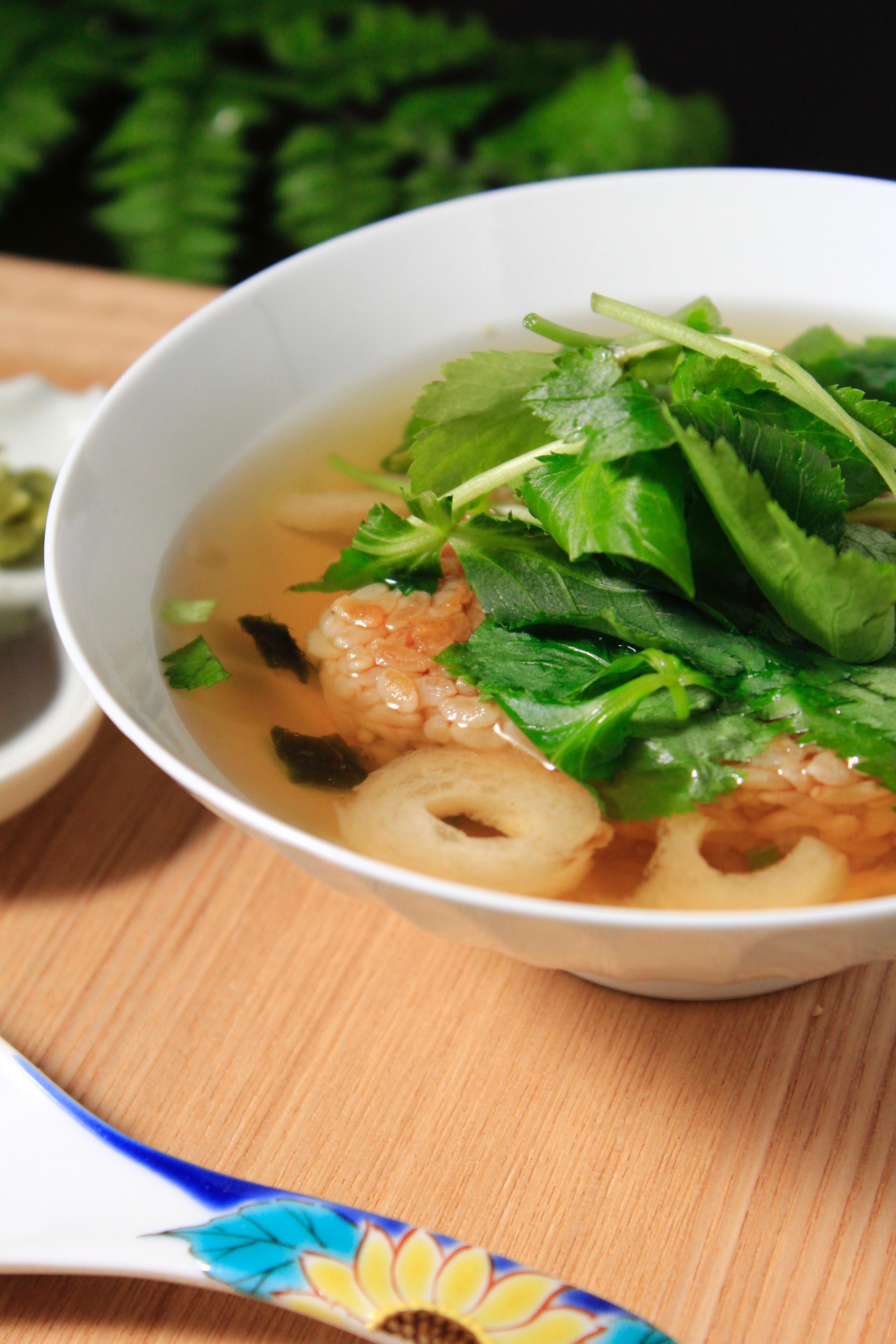 冷凍焼きおにぎりと永谷園のお吸い物でお雑炊②