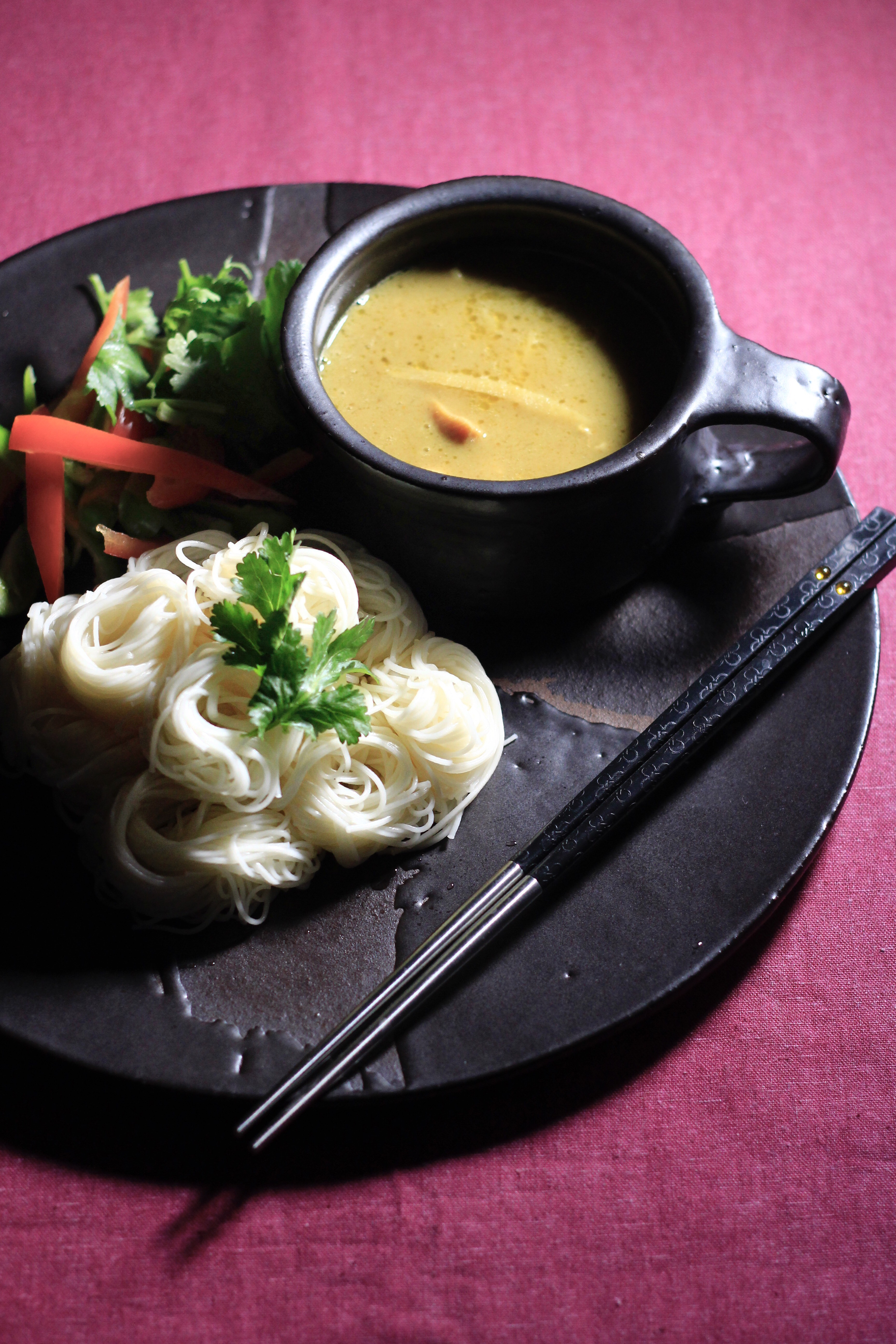 イオンのレトルトグリーンカレーでつけ素麺