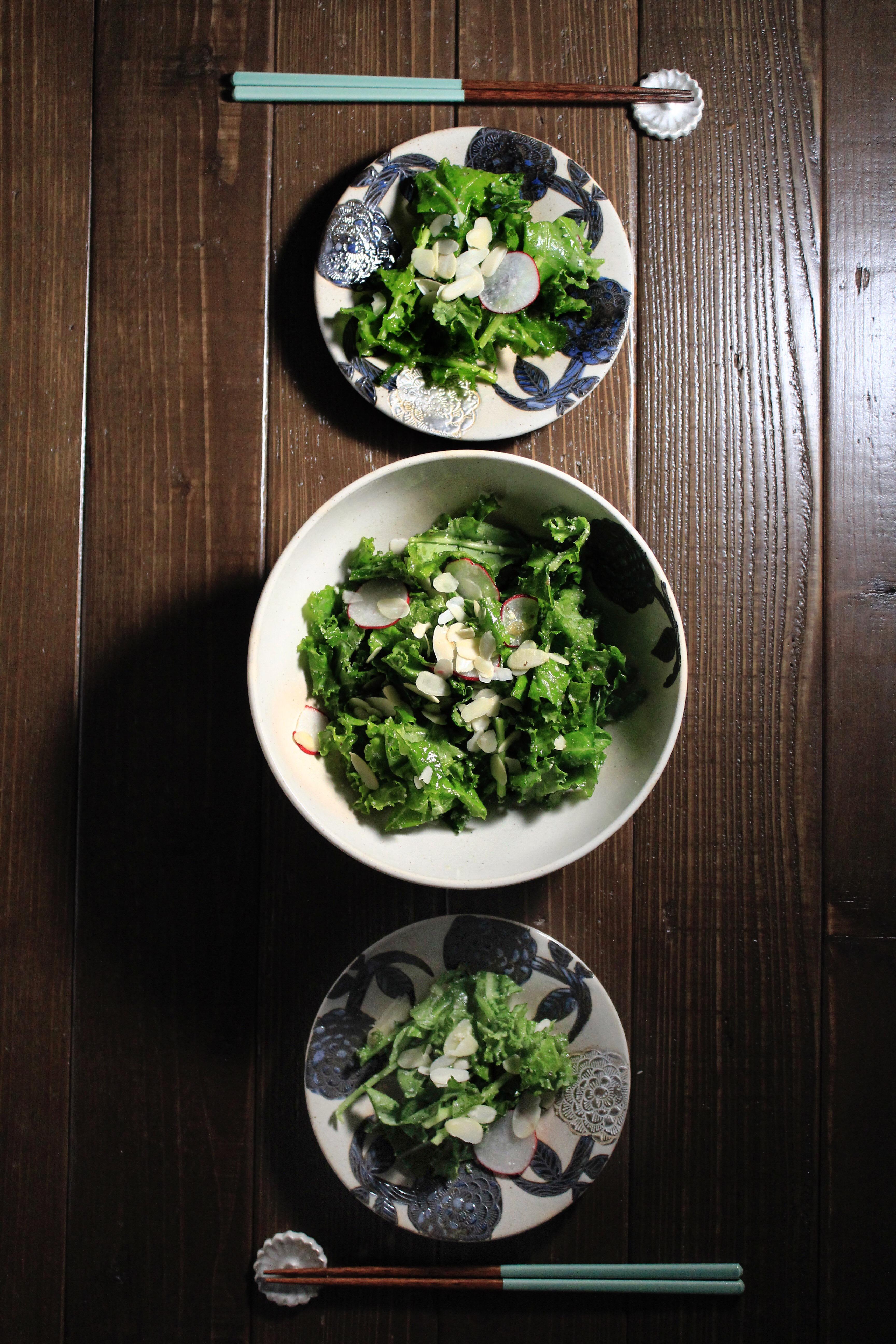 ④ ケールのチーズナッツサラダ