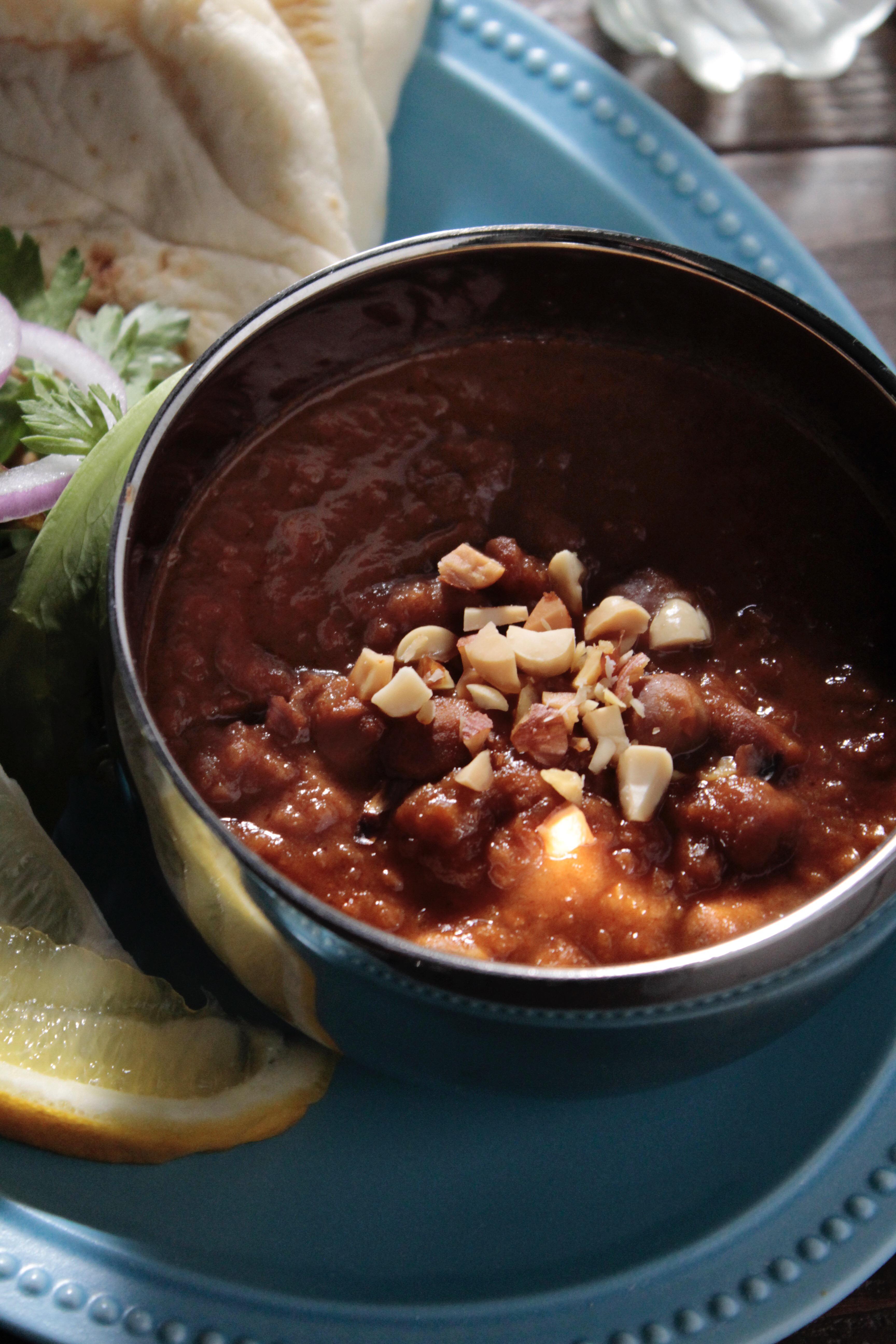 ② ひよこ豆のレトルトカレーで簡単カレープレート