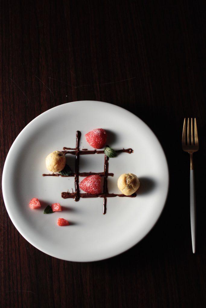 セブンイレブンのお菓子でデザートプレート