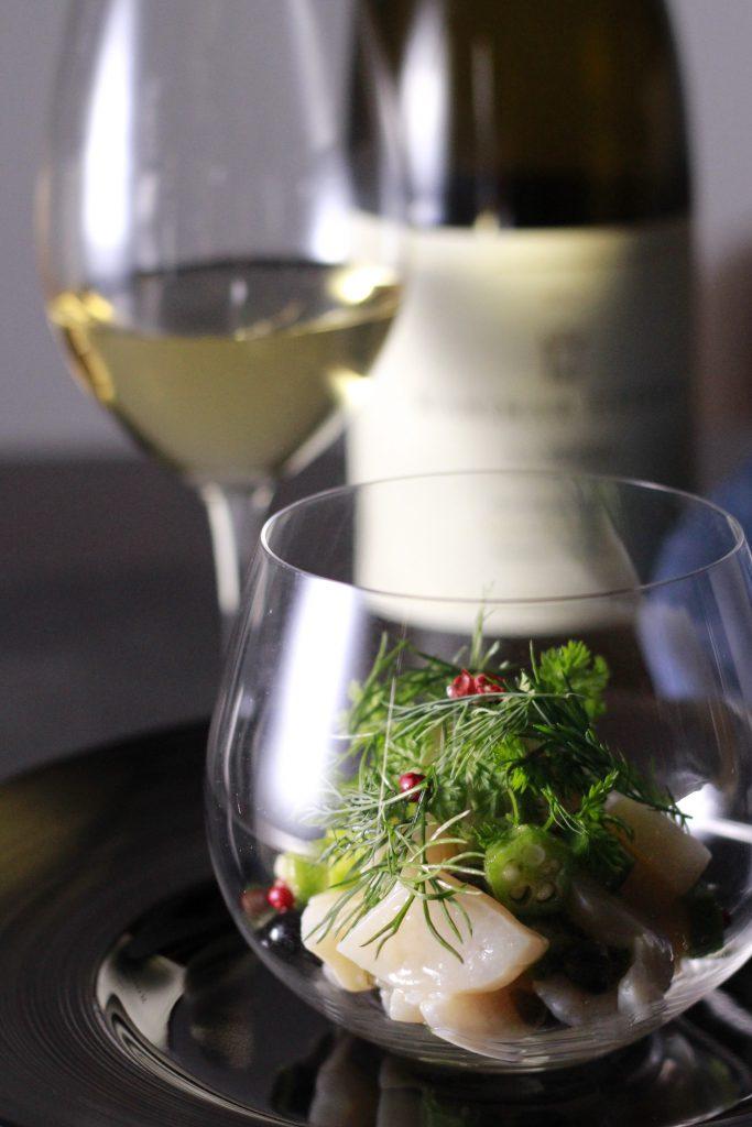 帆立タルタル ワイングラス①