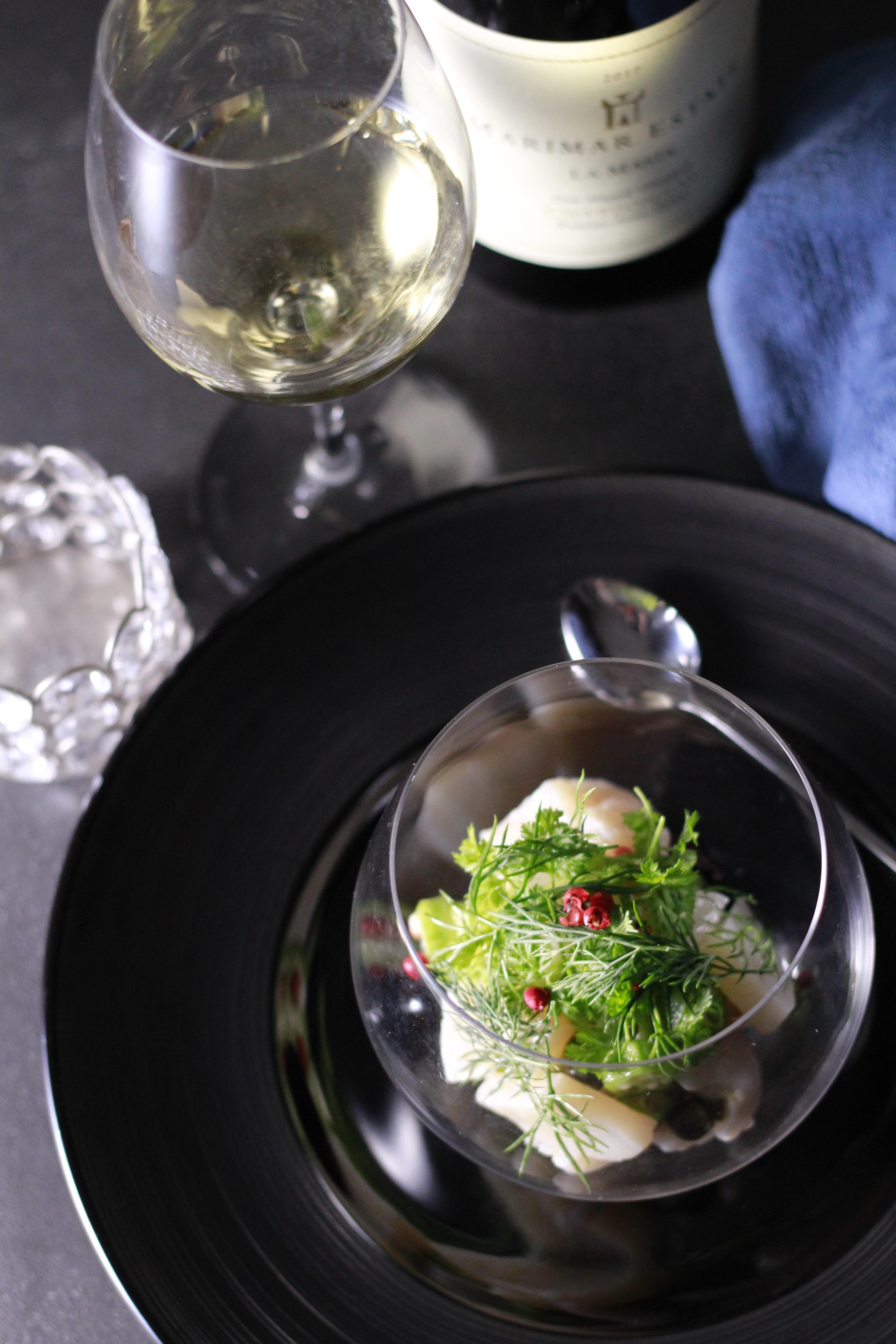 帆立タルタル ワイングラス④