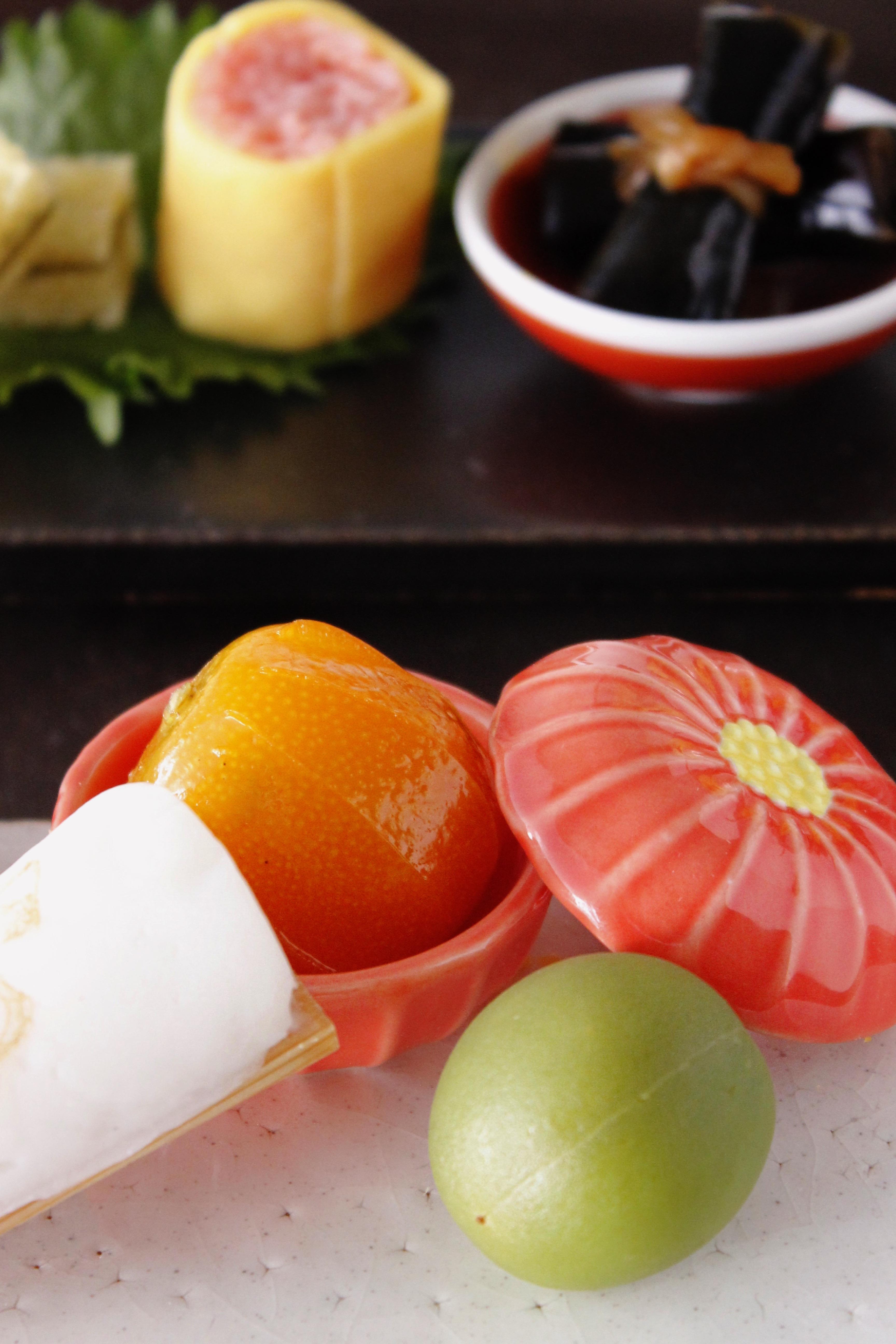 金柑の甘煮と翡翠梅