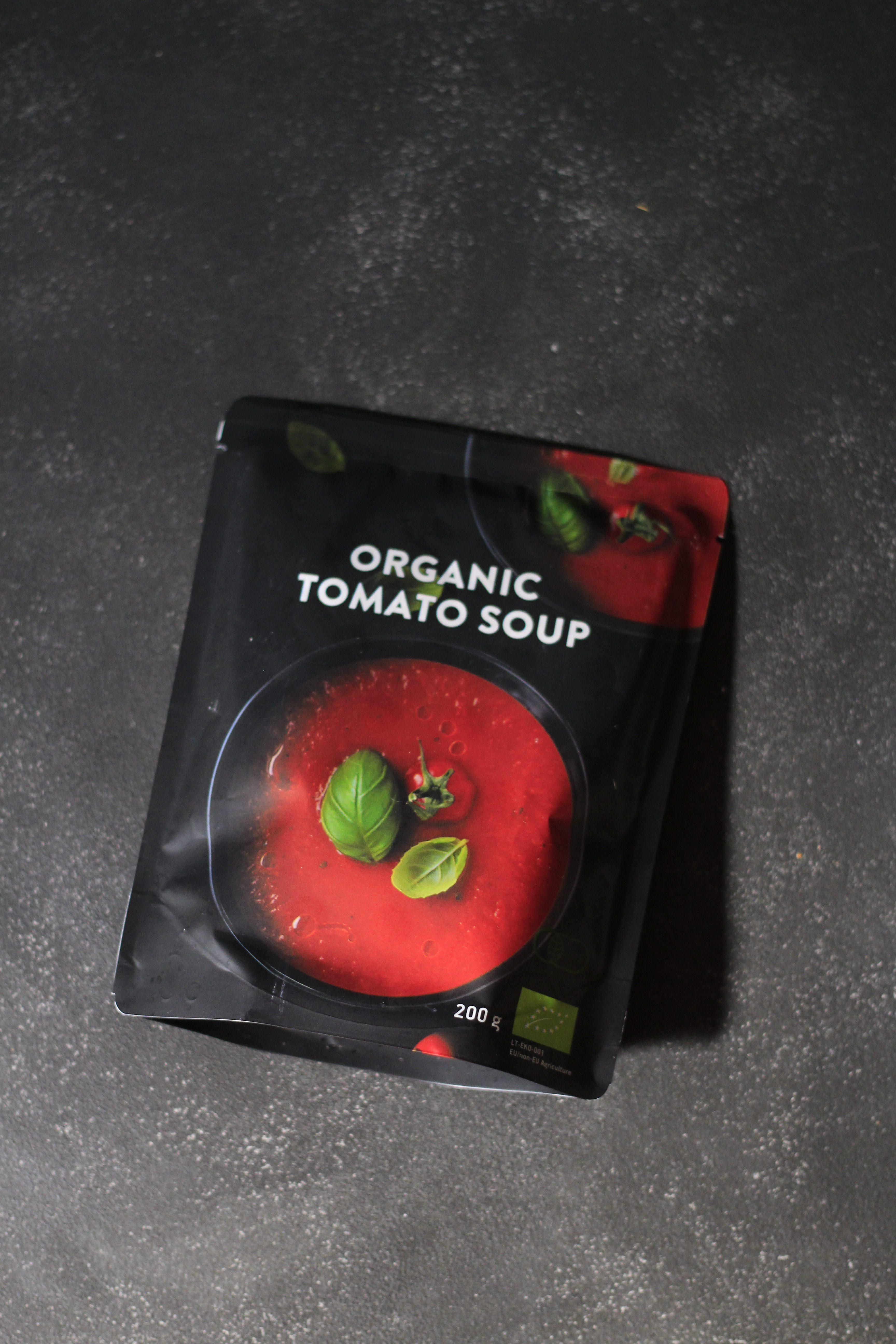 レトルトトマトスープにミニモッツァレラ①