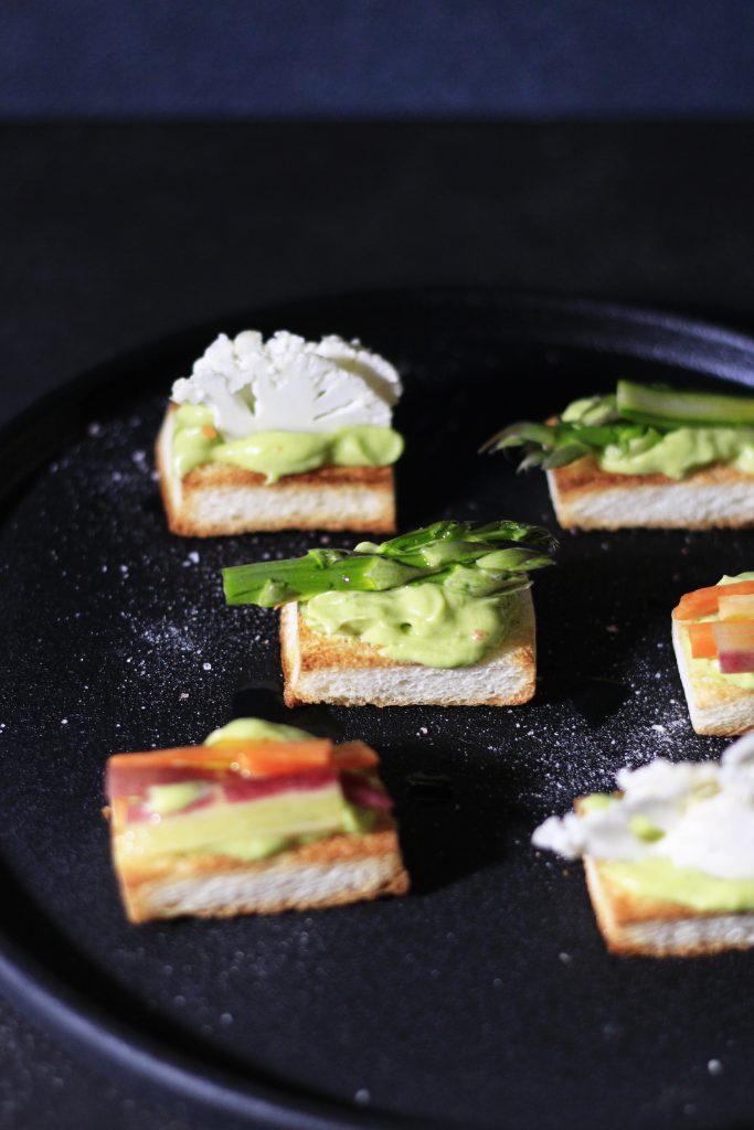 食パンスライス野菜カナッペ⑤