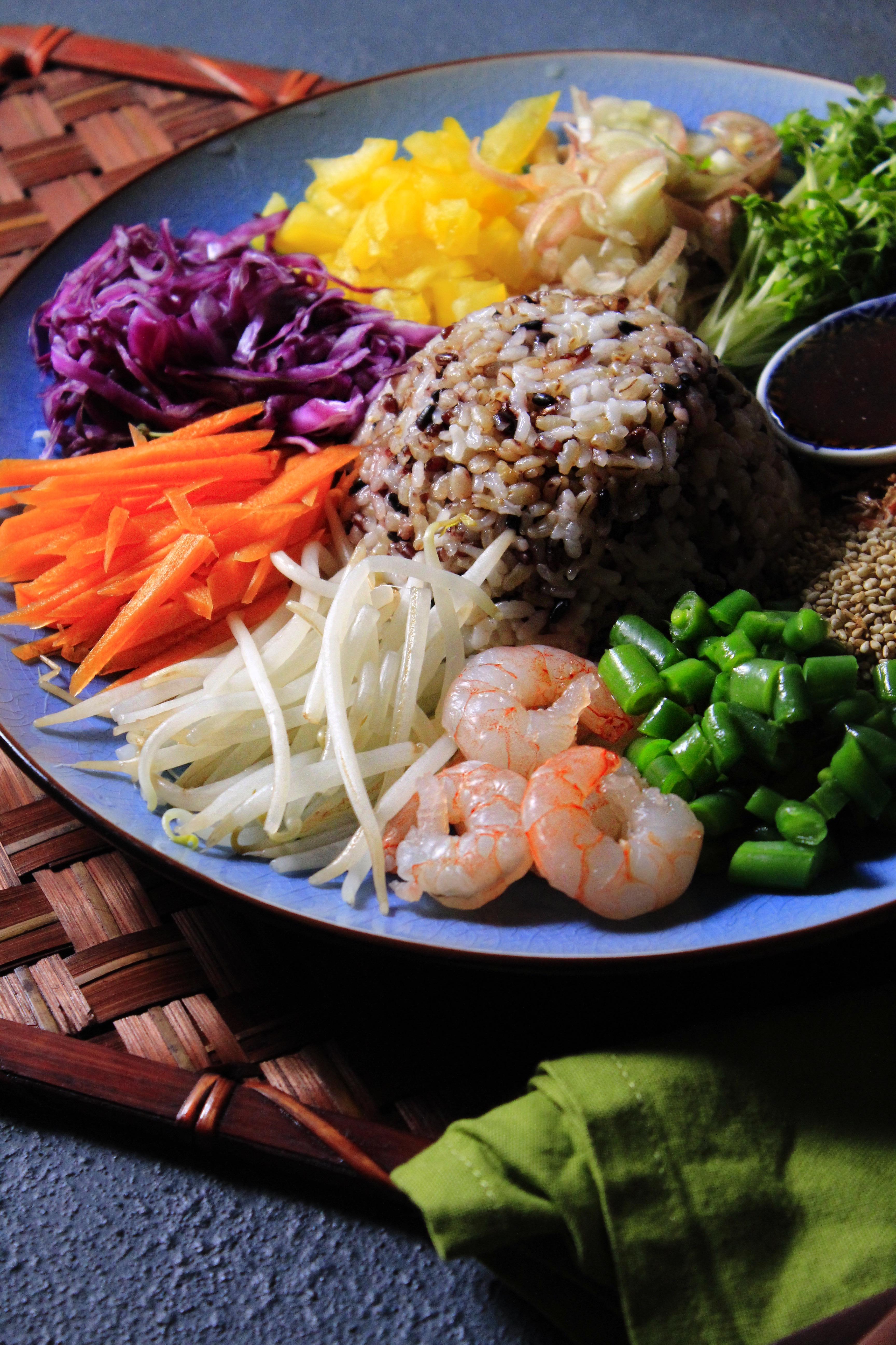 タイのライスサラダ(カオヤム)⑦